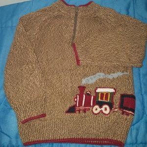 Gymboree Train 1/4 zip sweater - 2T